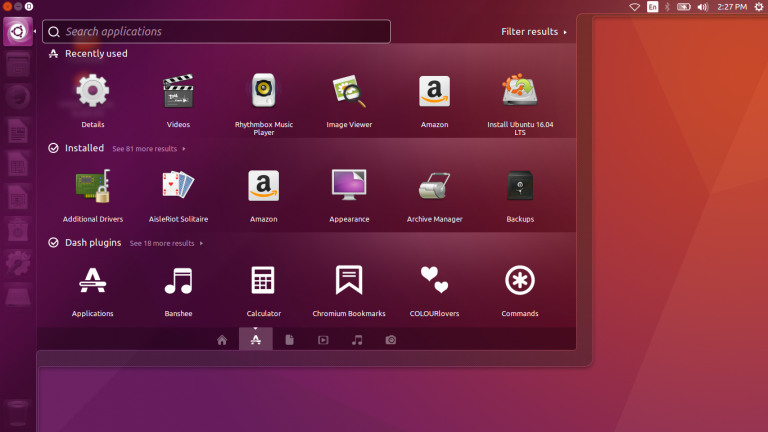 Move the Ubuntu's Launcher to the Bottom of the Screen on Ubuntu 16.04